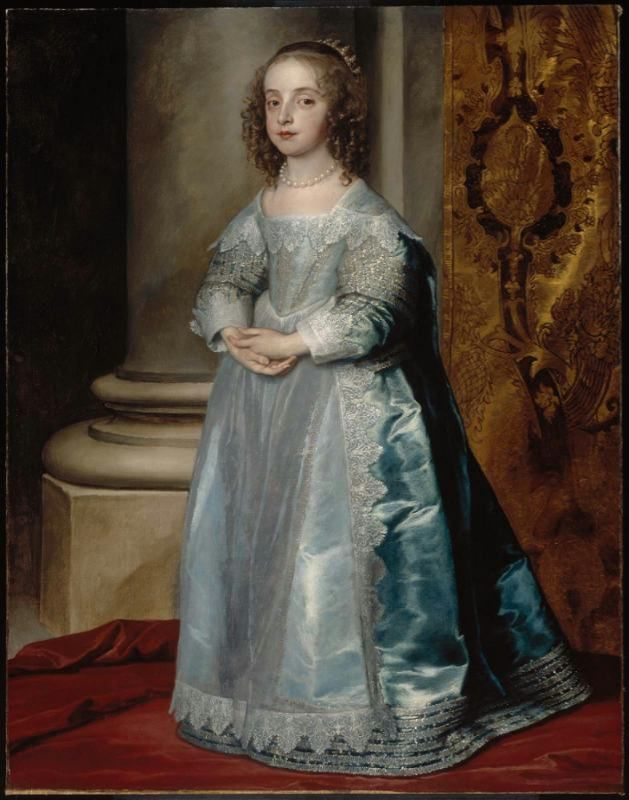 1641 Princess Mary, Daughter of Charles I by Van Dyck