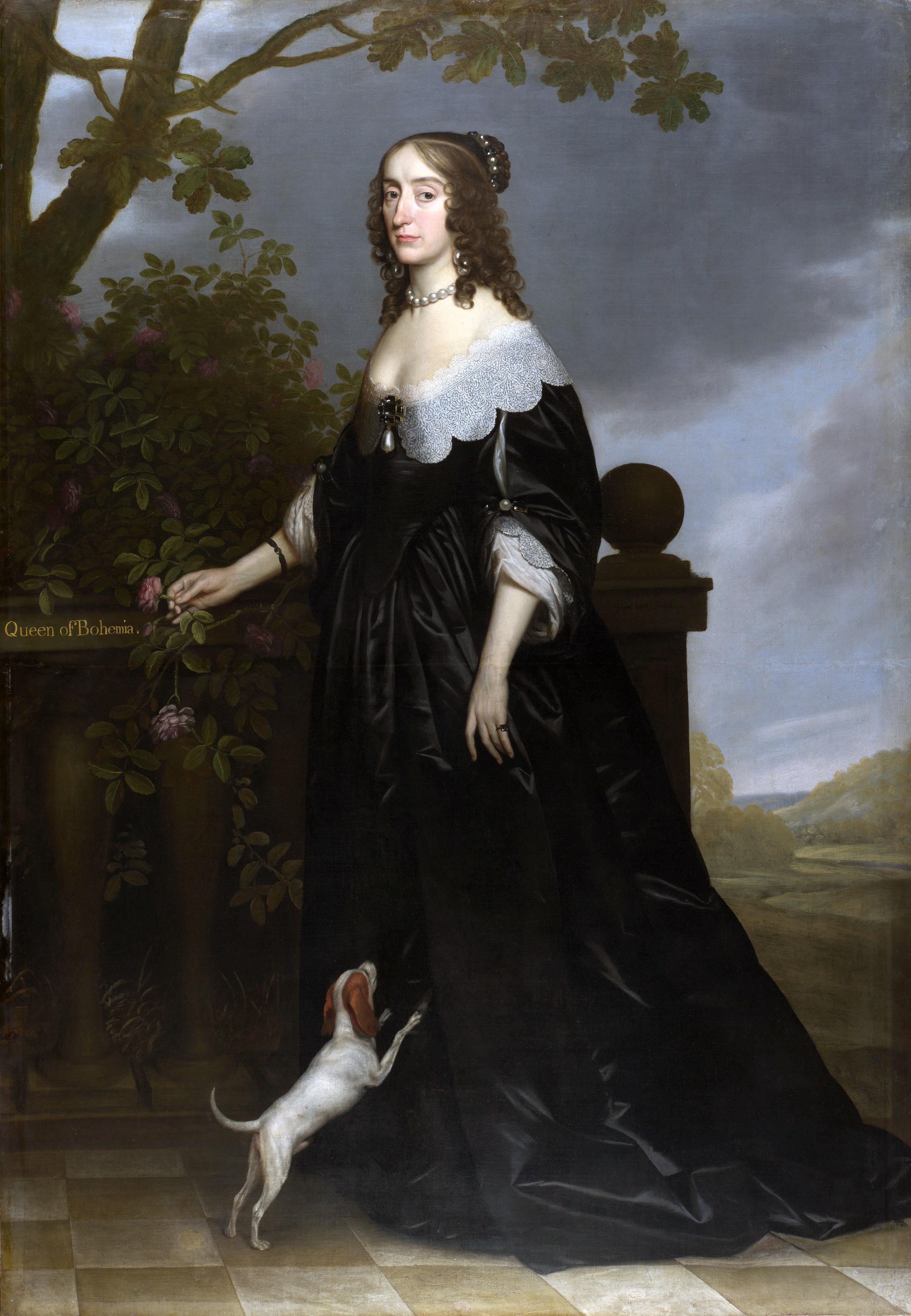 1642 the winter queen by gerrit van honthorst national. Black Bedroom Furniture Sets. Home Design Ideas