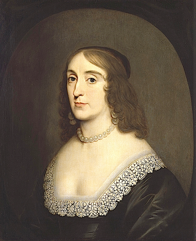 1642ca. Elizabeth, Queen of Bohemia by Gerrit van Honthorst (National Portrait Gallery, London) mod
