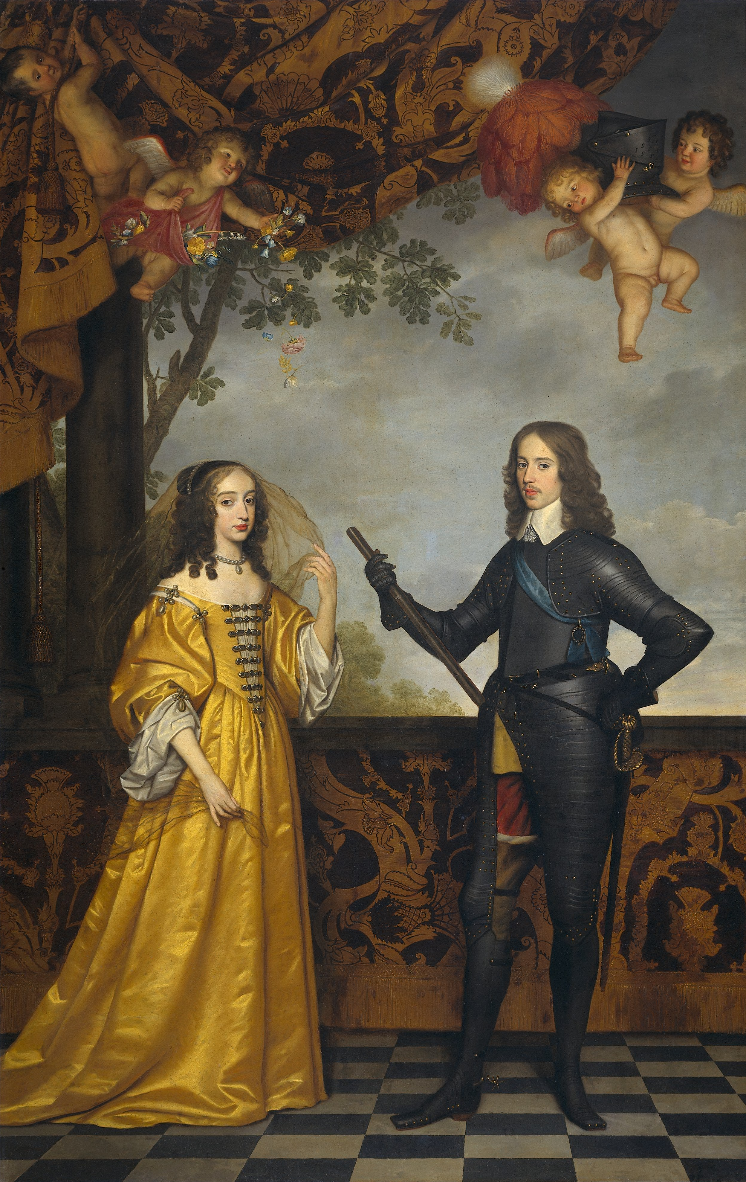 1647 Willem II, Prince of Orange and Maria Stuart by Gerrit van Honthorst  (Rijksmuseum