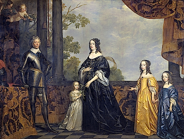 1647 Amalie van Solms with Frederik Hendrik & their family by Gerrit van Honthorst (Rijksmuseum)