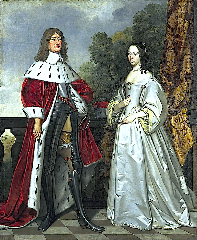 1647 Louise Henriette van Nassau (1627-1667) and Friedrich Wilhelm of Brandenburg (1620-1688) by Gerrit van Honthorst