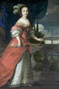 1654 Marie Anne Mancini as a huntress by Juste d'Egmont (auctioned by Sotheby's) 1.5X 2