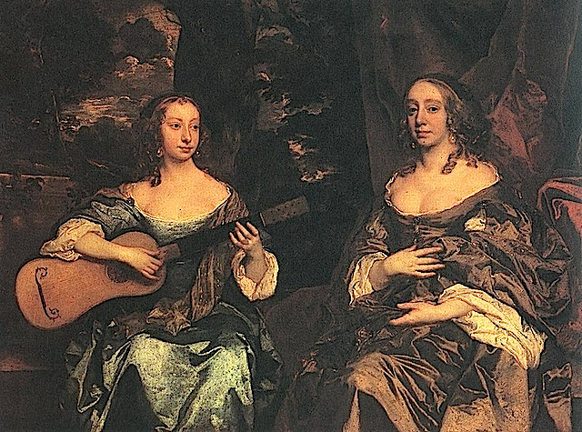 1660ca. Two Ladies of the Lake Family by Sir Peter Lely (Tate Collection, London)