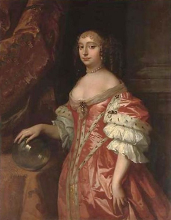 1660s (middle) Anne Hyde, Duchess of York by Sir Peter Lely (auctioned by Christie's) UPGRADE From pinterest.com:thepragmaticcos:17th-century-fashions-of-win:?lp=true