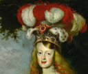 1667 Infanta Margarita Teresa de Habsburgo by Jan Thomas (Kunsthistorisches Museum - Wien Austria) headdress and earrings