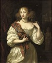 1669 Lady, said to be Barbara Villiers, Duchess of Cleveland, three-quarter-length, in a silver dress by Caspar Netscher (auctioned)