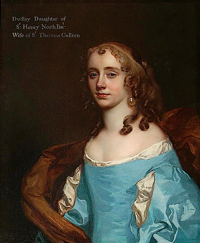 1670 Dudleia Cullum, née North, Lady Cullum by Sir Peter Lely (St Edmundsbury Museums - St Edmundsbury, Suffolk UK) despotted throughout