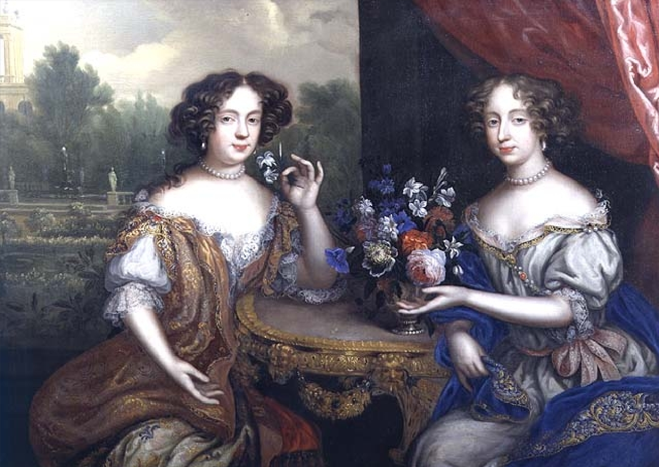 1670 Lady Anne Barrington and Lady Mary St John by Henri Gascar (Philip  Mould)