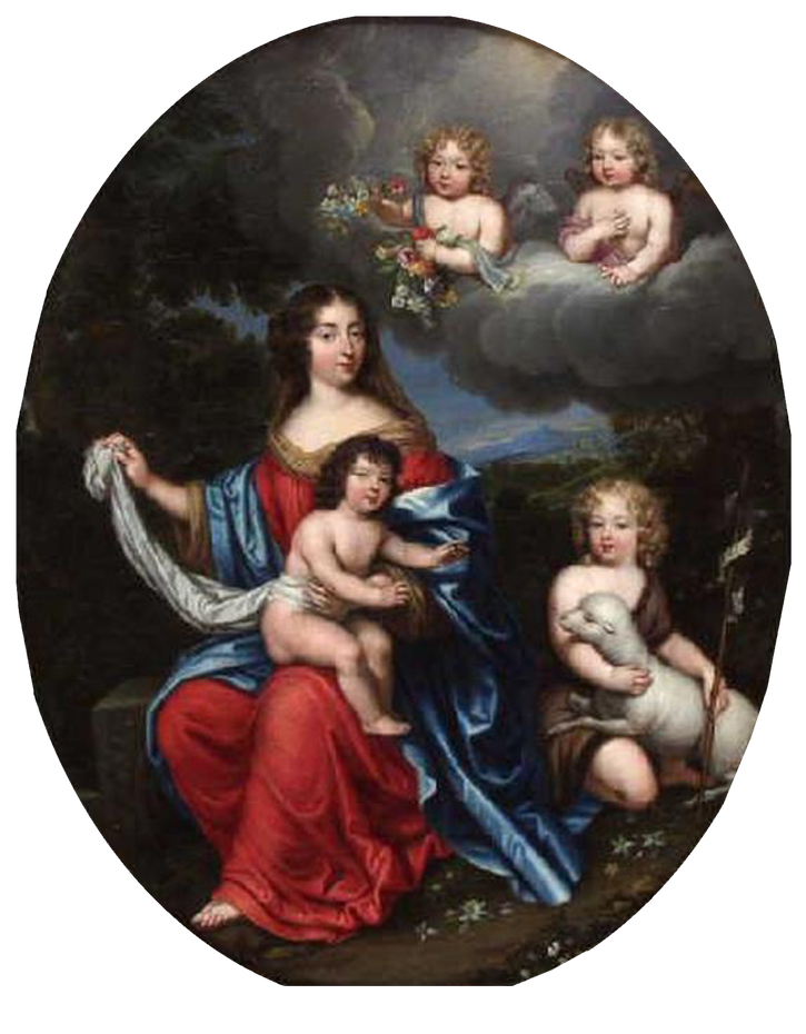 1674 Madame de Maintenon with the Comte de Vexin and the Duc du Maine by Pierre Mignard (Musée des Ursulines - Mâcon, Bourgogne-Franche-Comté, France) From hanjp222a.blog.163.com-blog-static-22969312420174411748865-