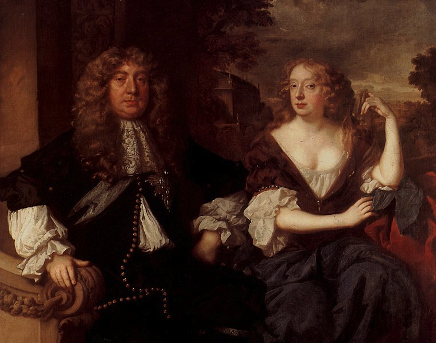... gone north to marry again to the Earl of Lauderdale and she wears a  casual-looking dress with a vee neckline over a scoop neck chemise in this  1679 Lely ...