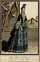 1684 Anne Marie d'Orléans while Duchess of Savoy by L. Mariette