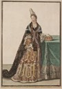 1695 Olympe Mancini, comtesse de Soissons in Fontanges headdress