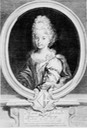 1697 Marie Adélaïde, Princess of Savoy before her marriage to the Duke of Burgundy Wm detint