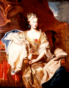 1705 Suzanne Henriette of Lorraine as Duchess of Mantua by Hyacinthe Rigaud (location unknown to gogm)