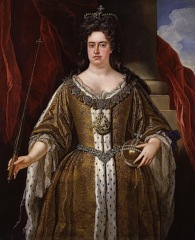 1711 (before) Queen Anne by John Closterman (National Portrait Gallery, London)