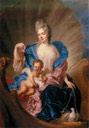 1712 Portrait of Countess of Cosel with son as Cupido by Francois de Troy (Muzeum Kolekcji im. Jana Pawła II - Warsawa Poland)