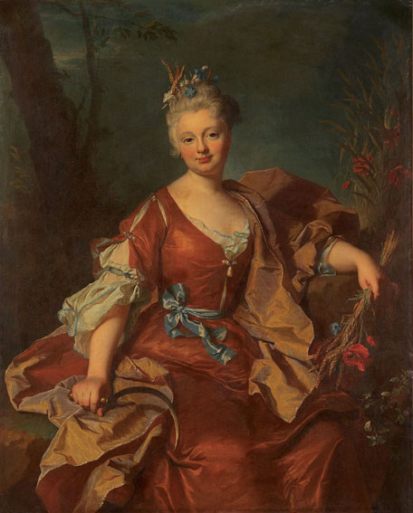 1712 Marguerite-Henriette de La Briffe by Hyacinthe Rigaud (privaye collection)