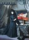 1717 Anna Maria Luisa de' Medici, Electress Palatine, in mourning dress by Jan Frans van Douven (location unknown to gogm)