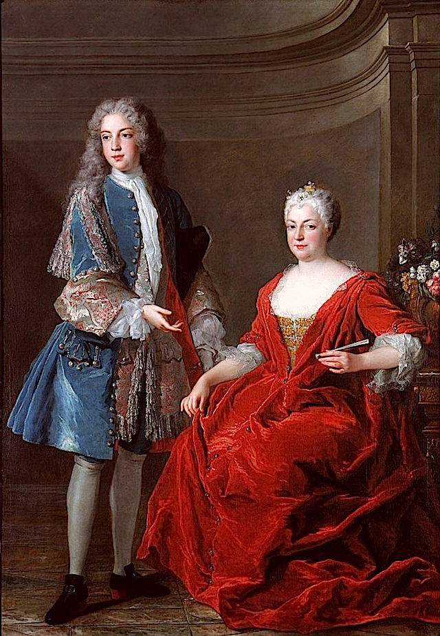 1722 Élisabeth-Charlotte d'Orléans, duchesse de Lorraine, avec son second fils François-Étienne par Alexis Simon Belle (location unknown to gogm) From www.altesses.eu:princes290.php