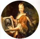 1727 Isabel Farnese by Miguel Meléndez (location unknown to gogm)