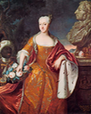 1729 Charlotte-Amalie of Danemark, King Frederik's IV daughter by ? (location unknown to gogm)