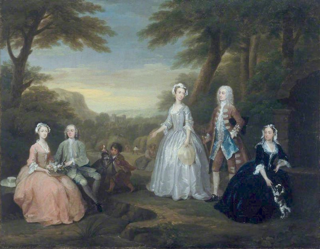 1730 The Jones Family Conversation Piece by William Hogarth (Amgueddfa  Cymru – National Museum Wales - Cardiff UK) bbc.co