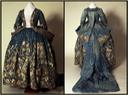 1730s Silver embroidered silk damask court mantua From Ephemeral Elegance 15 Sep 15