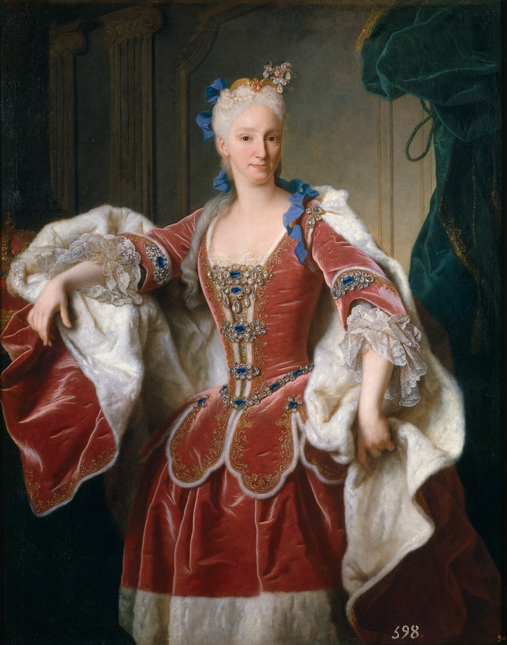 1732 Isabel de Farnesio by Jean Ranc (Colección Real via Museo Nacional del Prado - Madrid, Spain) alta resolución