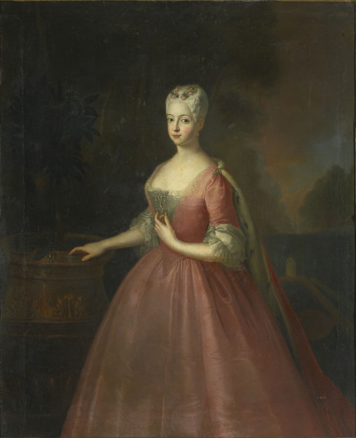 1734 Friederike Luise of Prussia by circle of Antoine Pesne (auctioned by Sotheby's) Wm