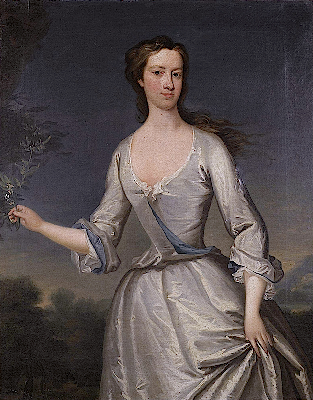 1735 Henrietta, nee Godolphin, wife of Thomas Pelham-Holles, Duke of New Castle Upon Tyne and first Duke of Newcastle Under Tyne and Prime Minister by Charles Jervas (auctioned by Sotheby's)