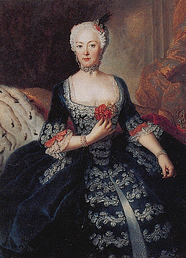1739ca. Elisabeth Christine Braunschweig-Bevern, Queen of Prussia by Antoine Pesne (The Collection of Friedrich II von Preußen) mod