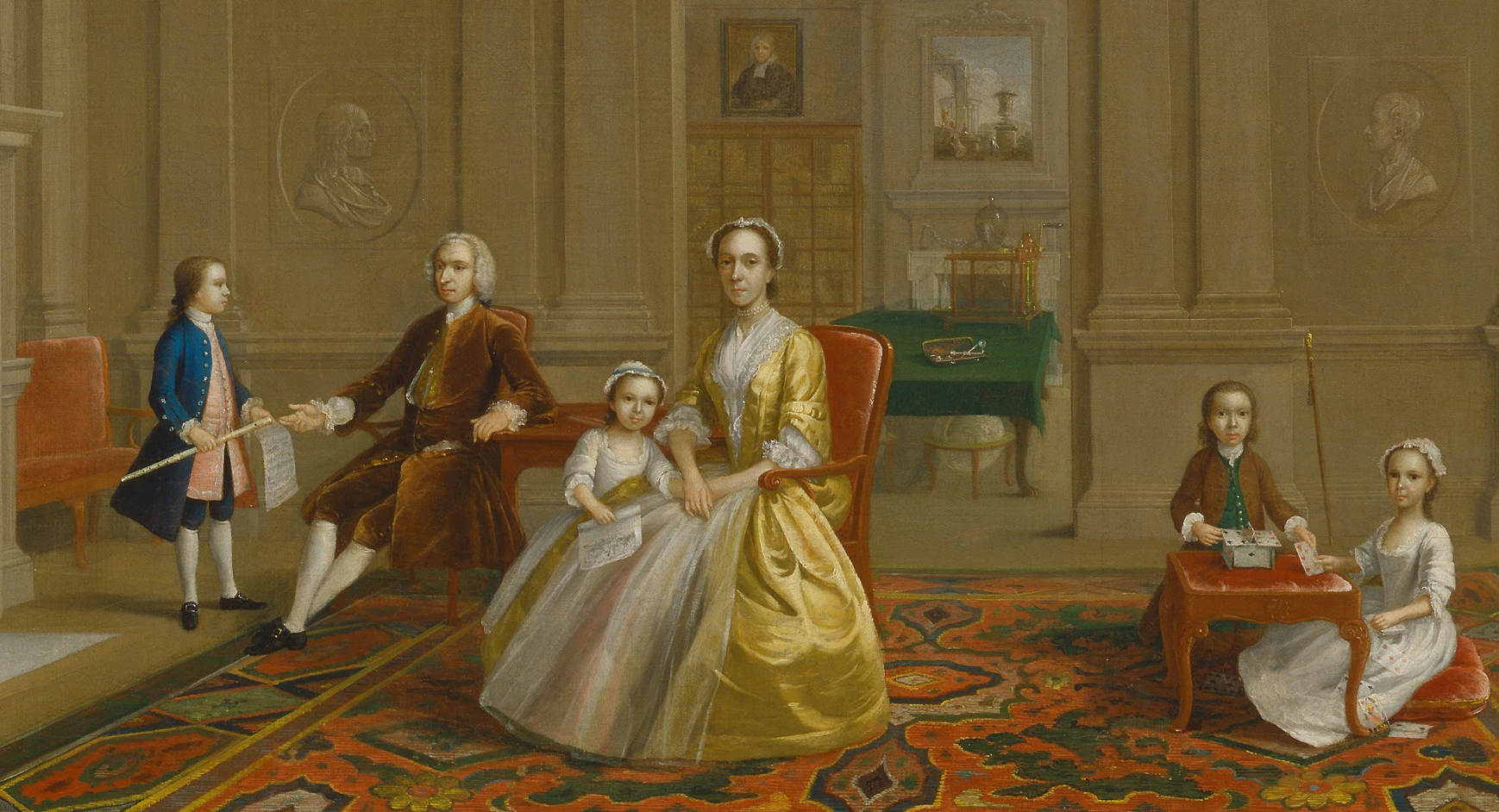 1742-1743 John Bacon family by Arthur Devis (Yale Center for British Art -  New Haven, Connecticut USA) close up