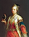 1744 Maria Theresa in oriental costume and mask by Martin van Meytens (Schloß Schönbrunn, Wien)