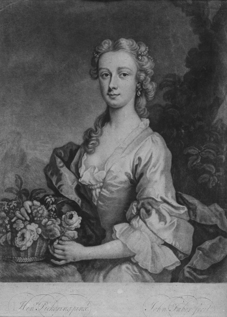 1745-1746 Isabel Mackenzie (née Gordon) Countess of Cromarty, Isabel Gordon (d.1769) wife of the 3rd Earl of Cromarty by Blaikie (National Library of Scotland - Edinburgh, UK) Wm detint