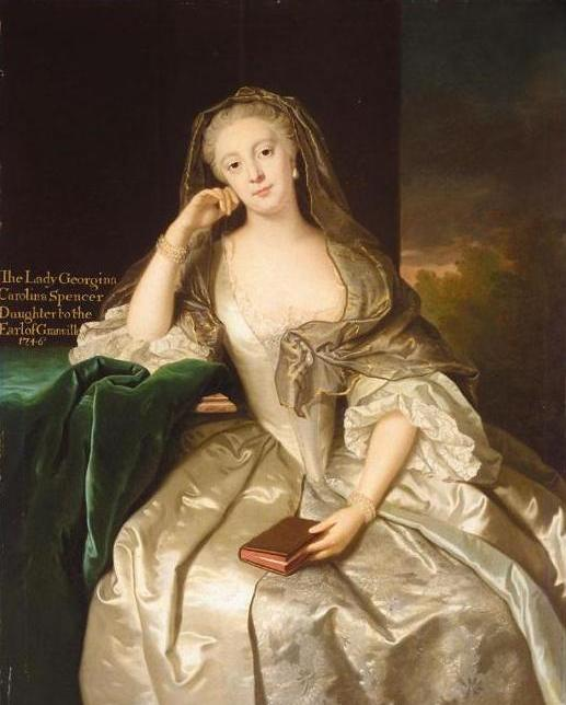 1746 Georgina Spencer by John Giles Eccard