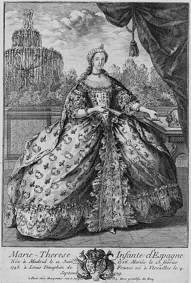 1746 Marie Thérèse Raphaëlle, Infanta of Spain by ? (Bibliothèque nationale de France) detint