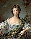 1748 Marie-Louise-Therese Victoire de France (Madame Victoire) after Jean Marc Nattier in pastel (Bonhams USA)