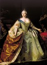 1750 Elizabeth of Russia by Louis Caravaque (State Tretyakov Gallery - Moskva, Russia)