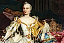 1750 Maria Theresia by ? (Schloss Eggenburg - Graz Austria) detail