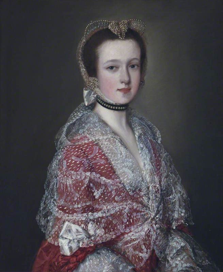 1753 Louisa Barbarina Mansell, Lady Vernon, by Thomas Gainsborough (Sudbury Hall - Sudbury, Ashbourne, Derbyshire, UK) From nttreasurehunt.wordpress.com-2014-02-06-portraits-from-outer-space X 2