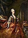 1753 (before) Amalia, Archduchess of Austria by Johann Gottfried Auerbach (location unknown to gogm)