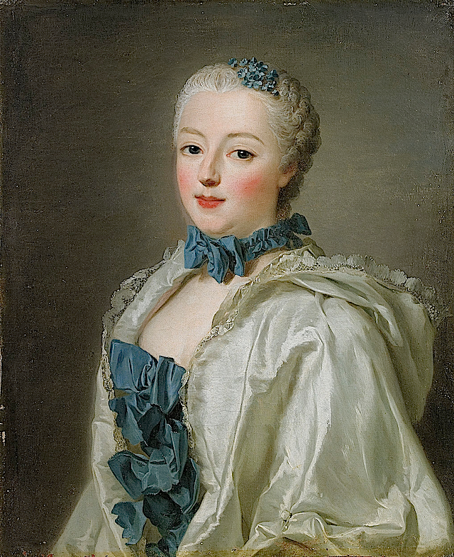 1753 Françoise Marguerite de Sévigné, Countess de Grignan by Alexander Roslin (auctioned)