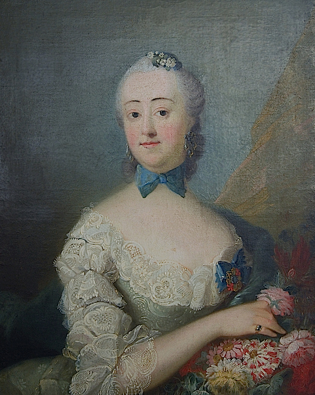 1755 Margrethe komtesse Holck Winterfeldt by Peder Als (location unknown to gogm) Wm