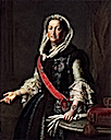 1755 Queen Maria Josefa of Poland portrayed in navy-blue jupeczka (fur garment) by Pietro Antonio Rotari (Gemäldegalerie - Dresden, Saxony Germany)