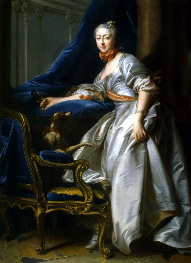 1756 Marie-Anne de Montboissier-Beaufort-Canillac, Marquise de Caumont (posthumous portrait) by Jean Valade (location ?) From altesses.eu:tableau max.php?image=c357be4a7 d