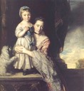1759 Georgiana, Countess Spencer, nee Poyntz, and her daughter by Sir Joshua Reynolds (Spencer Collection - Althorp, Northamptonshire, UK)