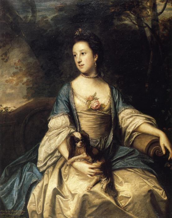 1759-1762 Caroline, Duchess of Marlborough by Sir Joshua Reynolds (private collection)