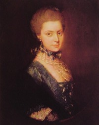 1764-1765 Elizabeth FitzRoy, née Wrottesley, Duchess of Grafton. Second wife of Augustus 3rd Duke of Grafton by Thomas Gainsborough (private collection) From mnnoblog.exblog.jp:i11:134: despot