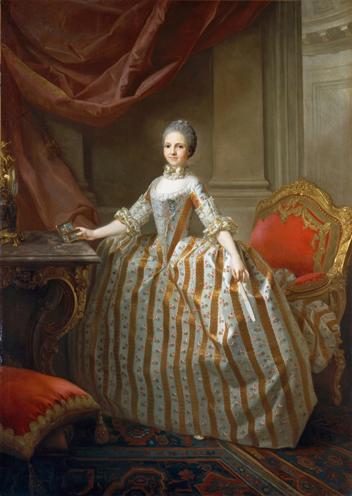 1765 Maria Luisa de Parma, later Queen of Spain by Laurent Pecheux marital prospect portrait (Metropolitan Mueum)